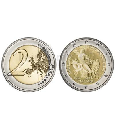 Moeda 2 Euros Ano Europeu do Património Cultural Vaticano 2018