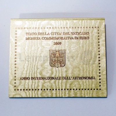 Moeda 2 Euros Ano Internacional da Astronomia Vaticano 2009