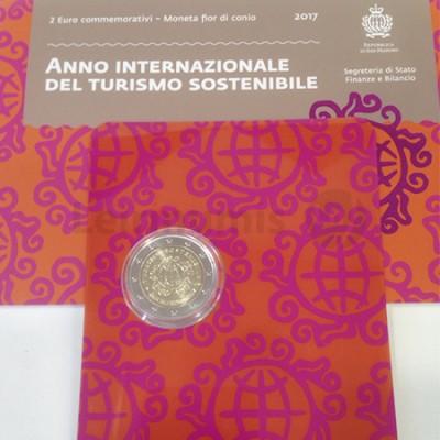 Moeda 2 Euro Ano Internacional do Turismo San Marino 2017