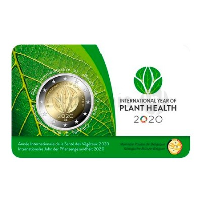 Moeda 2 Euro Ano Internacional Saúde Fitossanitária Bélgica 2020