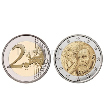 Moeda 2 Euro Augusto Rodin França 2017