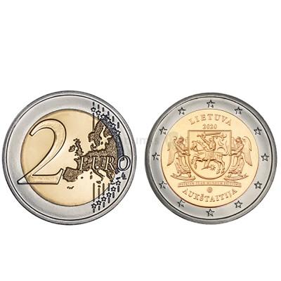 Moeda 2 Euro Aukstaitija Lituânia 2020
