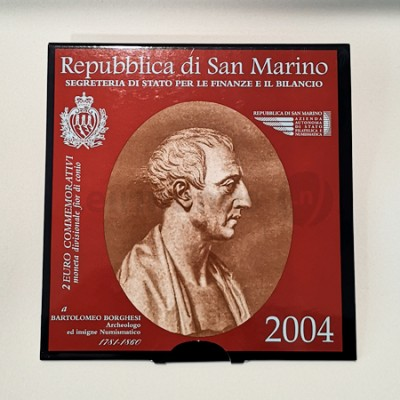 Moeda 2 Euro Bartolomeo Borghesi San Marino 2004
