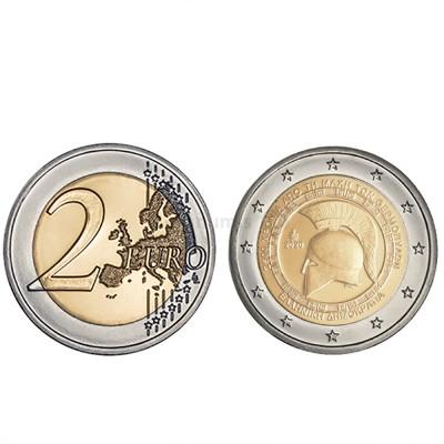 Moeda 2 Euros Batalha de Thermopylae Grécia 2020