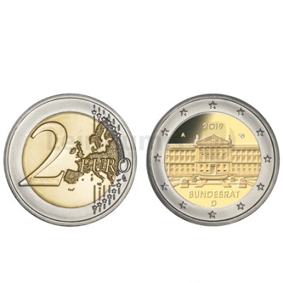 Moeda 2 Euro Bundesrat Alemanha 2019 A