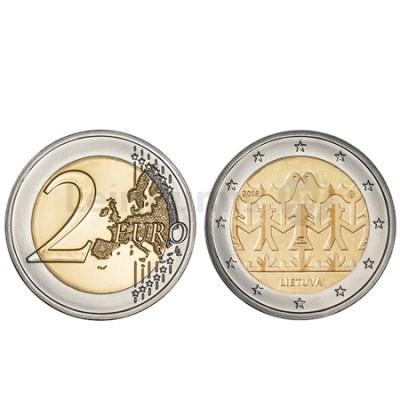 Moeda 2 Euro Canção e Dança Lituânia 2018