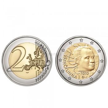 Moeda 2 Euro Centenário do Nascimento de Vaino Linna Finlândia 2020