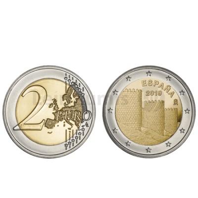 Moeda 2 Euro Cidade de Ávila Espanha 2019