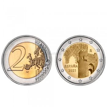 Moeda 2 Euro Cidade Histórica de Toledo Espanha 2021