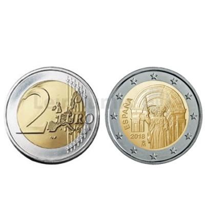 Moeda 2 Euro Cidade Velha Santiago de Compostela Espanha 2018