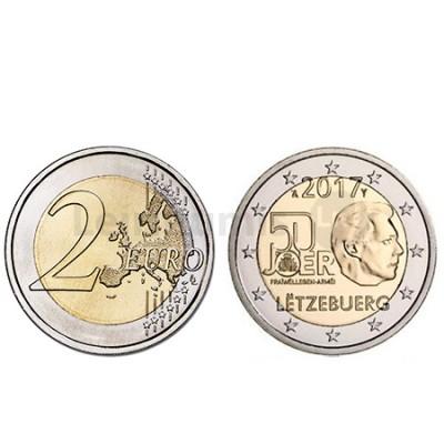 Moeda 2 Euro 50 Anos de Serviço Militar Voluntário - Luxemburgo 2017