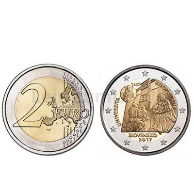 Moeda 2 Euro 550º Anivº Fundação da Universidade Istropolitana - Eslováquia 2017