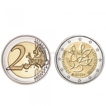 Moeda 2 Euro Comunicação e Jornalismo Finlândia 2021