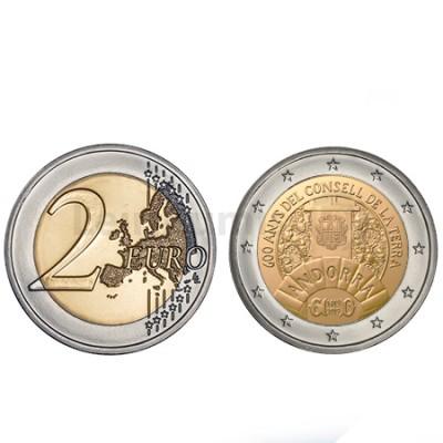 Moeda 2 Euros Conselho da Terra Andorra 2019