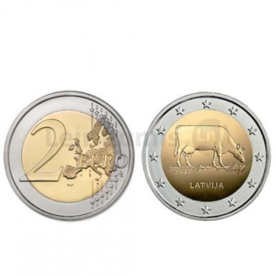 Moeda 2 Euros  Letónia 2016 Criação Gado Leiteiro