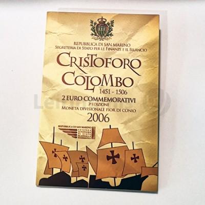 Moeda 2 Euro Cristovão Colombo San Marino 2006