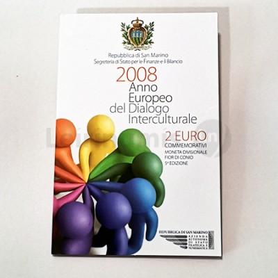 Moeda 2 Euro Diálogo Intercultural San Marino 2008