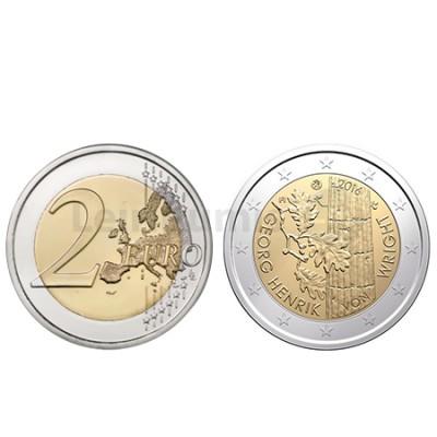 Moeda 2 Euro Finlândia 2016  Georg Henrik Von Wright