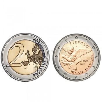 Moeda 2 Euro Giovanni Battista Tiepolo San Marino 2020