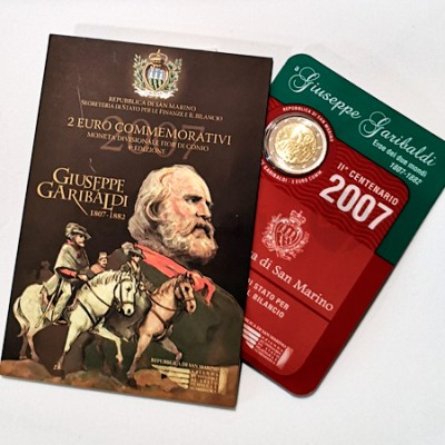 Moeda 2 Euro Giusep Garibaldi San Marino 2007