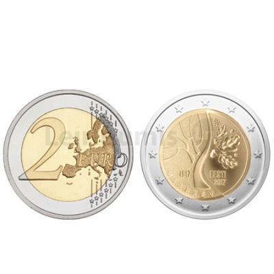 Moeda 2 Euro Estónia 2017 100 Anos Independência