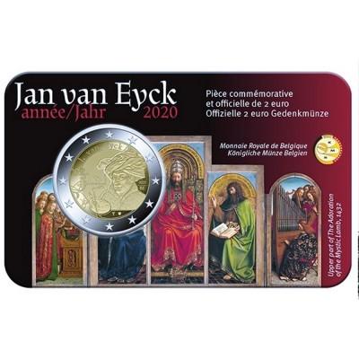 Moeda 2 Euro Jan Van Eyck Bélgica 2020