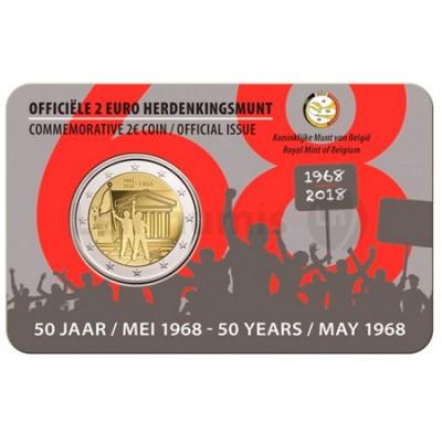 Moeda 2 Euro 50 Anos Maio de 1968-Revolta dos Estudantes Bélgica 2018