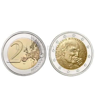 Moeda 2 Euro Comemorativa  Miterrand França 2016