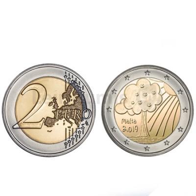 Moeda 2 Euros Natureza e Meio Ambiente Malta 2019