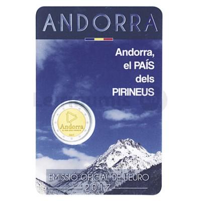 Moeda 2 Euros País dos Pirineus Andorra 2017
