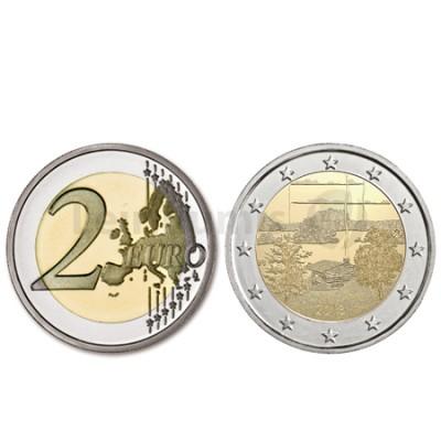 Moeda 2 Euro Paisagem Nacional Finlandesa Finlândia 2018 (Brevemente)