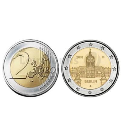 Moeda 2 Euro Palacio de Charlottenburg Alemanha 2018 A