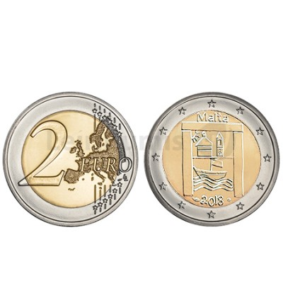 Moeda 2 Euros Património Cultural Malta 2018