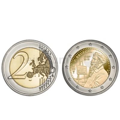 Moeda 2 Euro Pieter Bruegel Bélgica 2019