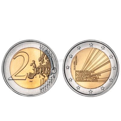 Moeda 2 Euros Presidência Portuguesa da União Europeia Portugal 2021 normal