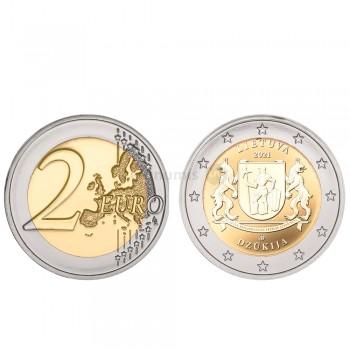Moeda 2 Euro Região de Dzukia Lituânia 2021