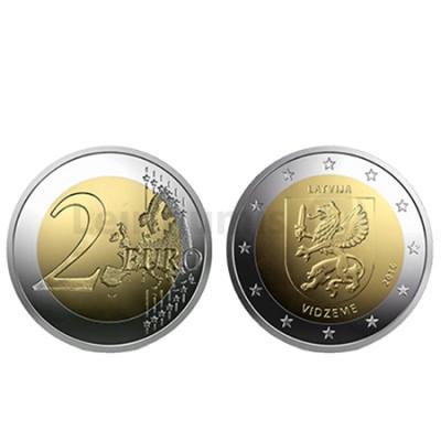 Moeda 2 Euros Região de Vidzeme Letónia 2016