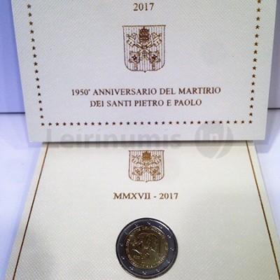 Moeda 2 Euros S.Pedro e S.Paulo - Vaticano 2017