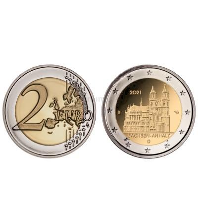 Moeda 2 Euro Saxônia Anhalt Catedral de Magdeburg Alemanha 2021 G