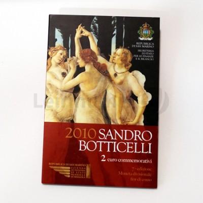 Moeda 2 Euro Sandro Botticelli San Marino 2010