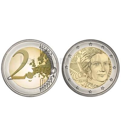 Moeda 2 Euro Simone Veil França 2018