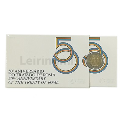 Moeda 2 Euros Tratado Roma Portugal 2007 Proof