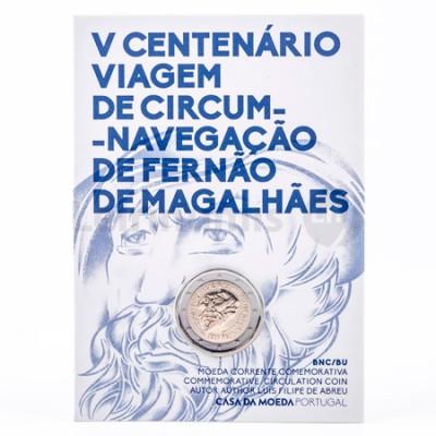 Moeda 2 Euro Viagem de Circum Navegação Fernão de Magalhães BNC Portugal 2019