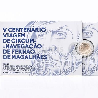 Moeda 2 Euro Viagem de Circum Navegação Fernão de Magalhães Proof Portugal 2019