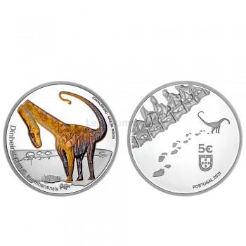Moeda 5€ Dinheirosaurus Lourinhanensis Portugal 2021 Proof