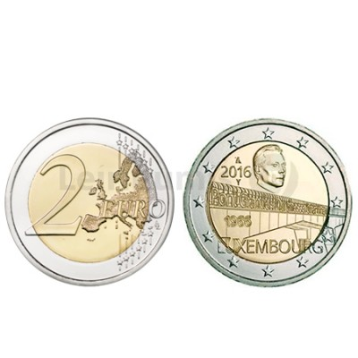 Moeda 2 Euro Ponte Charlotte - Luxemburgo 2016