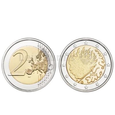 Moeda 2 Euro Eino Leino Finlândia 2016