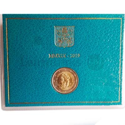 Moeda 2 Euros Aniversário Restauro da Capela Sistina Vaticano 2019