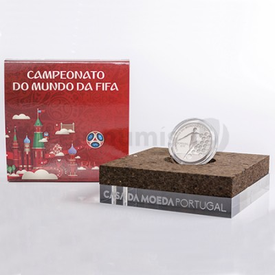 Moeda 2,5€ Campeonato do Mundo Fifa Russia 2018 Portugal Prata Proof