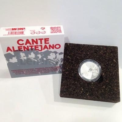 Moeda 2,5 Euro Comemorativa Cante Alentejano Portugal 2016 prata proof